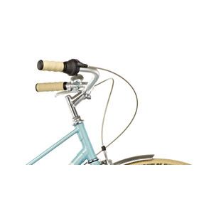 Creme Caferacer Uno Stadsfiets Dames 3-speed turquoise